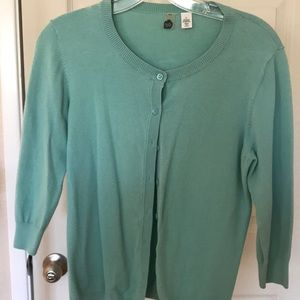 3/4 sleeve Teal Cardigan